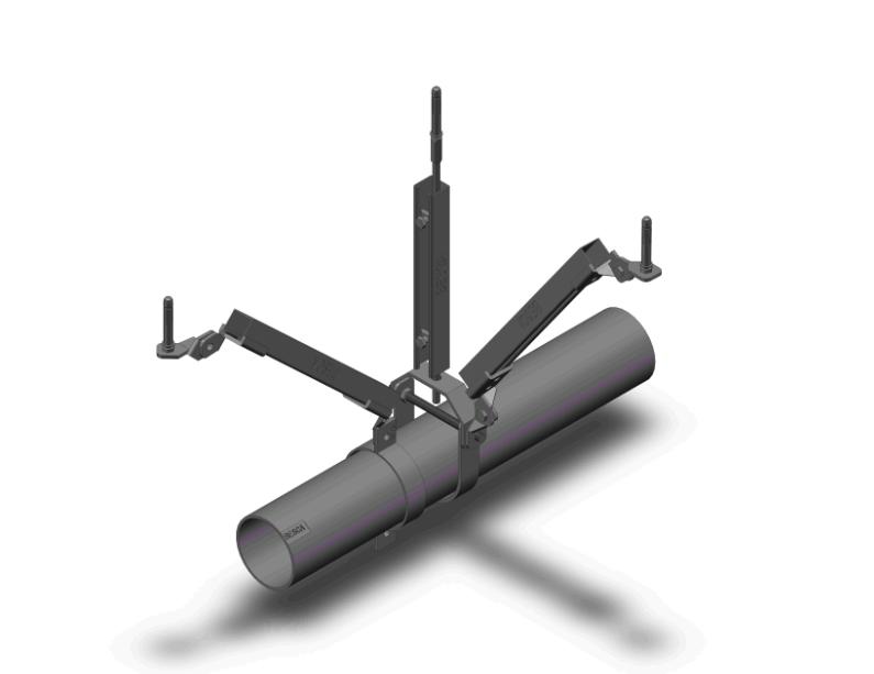 单管双向抗震支架