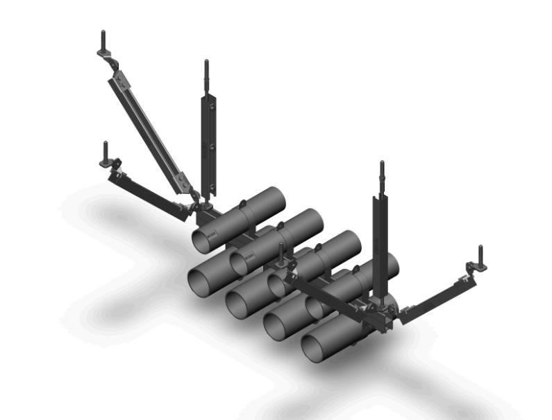 通风排烟管道-双向抗震支架(图1)